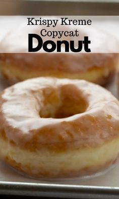 This Krispy Kreme donut recipe tastes just like the original! You'll be amazed at how simple it is to put together this dough to create an airy donut that's topped with a light glaze. Egg Recipes For Breakfast, Delicious Breakfast Recipes, Savory Breakfast, Breakfast Cake, Sweet Breakfast, Yummy Recipes, Delicious Desserts, Yummy Food, Donut Recipes