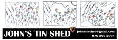 Custom Steel Wart Art Designs Tin Shed, Art Frames, How To Remove Rust, Steel Wall, Framed Wall Art, Art Designs, Art Projects, Patterns