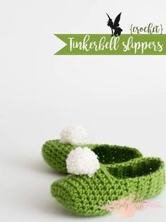 {Crochet} Tinkerbell Slippers | Simply Tale