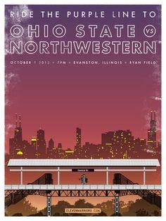 2013 Ohio State Buckeyes Football OSU/Northwestern