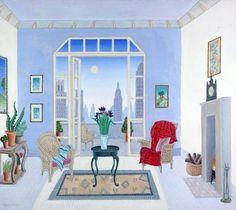 thomas mcknight posters | Thomas McKnight - New York - Murray Hill Terrace - original painting ...