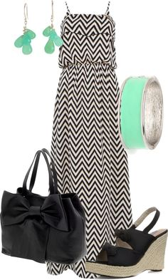 """""""Chevron Maxi"""" by wcatterton on Polyvore"""