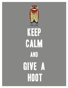 Keep Calm and give a hoot Thick font by popstarscrafts on Etsy, $6.00