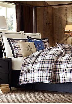williamsport rustic plaid comforter beddingwoolrich | cozy
