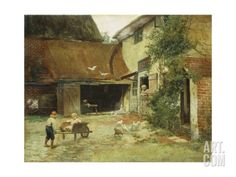 A Cottage in Brooklyn Art Print by James Wells Champney at Art.com