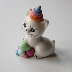 Altered Vintage Cat Figurine