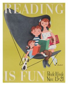 Reading Is Fun Giclee Print by Jan Balet at AllPosters.com
