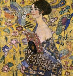 Cave to Canvas, Lady with a Fan - Gustav Klimt, 1917-18