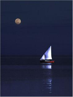 Moonlight sail.  One day this will be me.