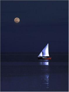 Moonlight sail.
