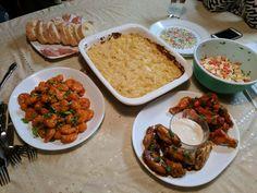 [homemade] Teriyaki and Honey Sriracha Wings Bang bang Shrimp Smoked Gouda/White Cheddar Mac And Cheese Bruschetta. It Doesn't Have To Make Sense It's Monday Night Football Food. http://ift.tt/2fjLP4u