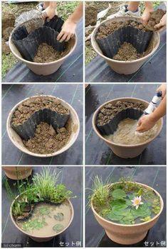 Agyagcserepes kis kerti tavacska