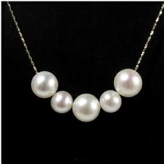 Jessica - Gold Freshwater Pearl Necklace - Jacqueline Shaw