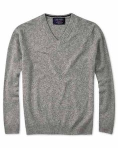 Buy our Silver grey cashmere v-neck sweater exclusively from Charles Tyrwhitt of Jermyn Street, London. Grey Suit Shoes, Black Suits, Sweater Shop, Jumper, Men Sweater, Charles Tyrwhitt, Suit Shop, Suit Fashion, Cashmere