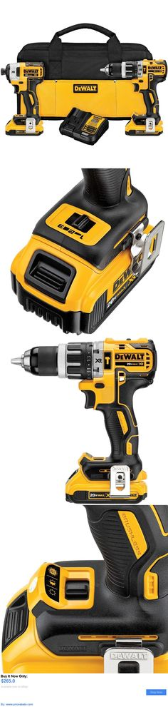 tools: Dewalt Dck287d2 20V Brushless Compact Hammer Drill And Impact Driver Combo Kit BUY IT NOW ONLY: $265.0 #priceabatetools OR #priceabate