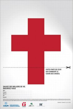 University of Montreal Hospital Centres: Cross : Print Ads : Sanjeev. Advertising Ads, Creative Advertising, Charity Poster, Centre, Cross Pictures, Social Campaign, Graduation Project, American Red Cross, Of Montreal