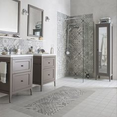 Use Spanish tiles to give your bathroom a more decorative appearance. These designs are proving to be extremely popular at the minute.