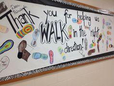 My principal appreciation banner we made!
