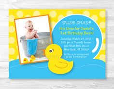 Hey, I found this really awesome Etsy listing at https://www.etsy.com/listing/115453099/rubber-duck-birthday-invitation