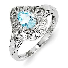 Modest Swiss Blue Topaz Gemstone 925 Silver Jewelry Ring Size 8 Choice Materials Fashion Jewelry