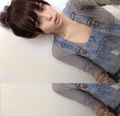 She looks good with bangs! …