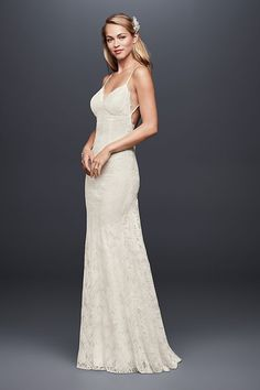 Beautiful Galina exclusively at David us Bridal Polyester No train Back zipper fully lined Dry clean Imported Also available in extra