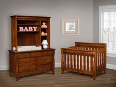 Create a nursery collection that is truly unique with the pieces of our West Estates Baby Furniture Set in your preferred wood and stain combination.