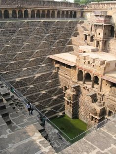 Chand Baori Stepwell, Abhaneri, Rajasthan, India - this stepwell was built in 10th century.