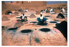 Indigo Dying | Indigo Dye Vats Kano, Nigeria via Snow on Red Earth