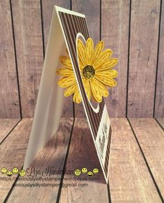 handmade greeting card ... spinner card in action with daisy awhirl ... fun card!