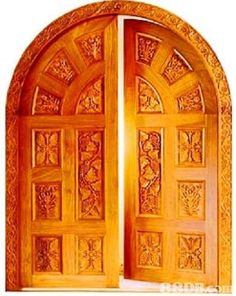 Carved wood doors to decorate your room and entrance. Know the type of wood in carved wooden doors, price of hand carved wood doors and types of wood carving on carved wood doors. Home Door Design, Wooden Door Design, Double Door Design, Front Door Design, Beautiful Front Doors, Door Molding, Arch Molding, Flush Doors, Door Entryway