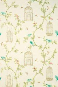 Osborne and Little Nina Campbell Birdcage Walk 01 Fabric Wallpaper, Of Wallpaper, Pattern Wallpaper, Nina Campbell, Bird Patterns, Pretty Patterns, Osborne And Little, Bird Cages, Backgrounds
