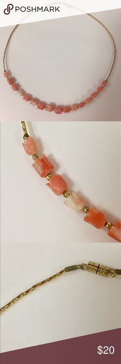 Genuine Coral carved Rose necklace vintage Real coral carved into roses. Great condition Vintage Jewelry Necklaces
