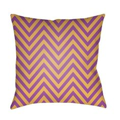 Purple Boo 18-Inch Throw Pillow with Poly Fill