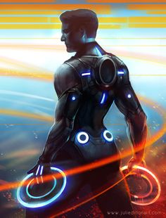 Tron.  I love this art!  Makes me want to do another Tron costume!