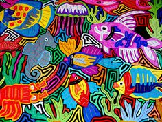 Las molas - Kuna women,  Panama - traditional textile art panels on blouses & other clothing