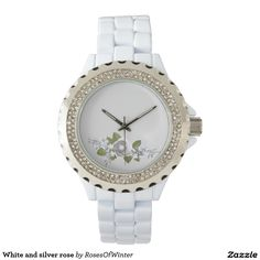 White and silver rose wristwatches