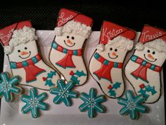 "Holiday Stockings - Giant 8"" cookies"