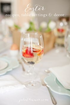 simple Easter recipes table settings & decoration ideas | celebrate beautifully