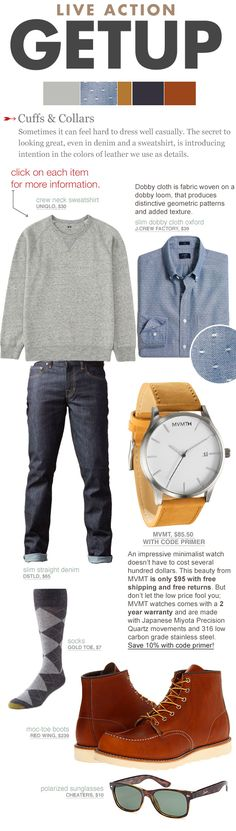 Sometimes it can feel hard to dress well casually. The secret to looking great, even in denim and a sweatshirt, is introducing intention in the colors of leather we use as details.