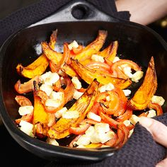 Gegrilde pompoen met feta - recept - okoko recepten No Carb Recipes, Veggie Recipes, Fall Recipes, Vegetarian Recipes, Healthy Recipes, Oven Recipes, Quick Healthy Meals, Healthy Cooking, Healthy Snacks