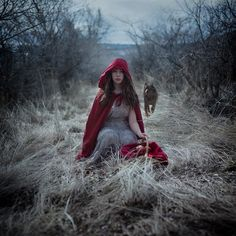 Oblivion, Another take on Little Red Riding Hood by Korinne Bisig Red Riding Hood Wolf, Red Ridding Hood, Red Cottage, Fantasy Photography, Fairy Princesses, Red Hood, Photoshoot Inspiration, Little Red, Dame
