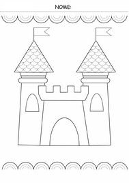 schede didattiche di pregrafismo Easy Coloring Pages, Coloring Sheets, Coloring Books, Chateau Moyen Age, Castle Tattoo, Flower Drawing Tutorials, Travel Toys, Theme Noel, Christmas Tree Themes