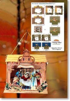 Paper Nativity Scene from Paper Model Kiosk