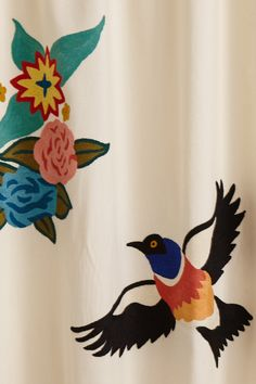 Soaring Starlings Curtain - Anthropologie.com
