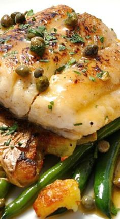 French Delicacies Essentials - Some Uncomplicated Strategies For Newbies Fish Piccata With Crispy Smashed Potatoes 15 Minute Meal Cod Fish Recipes, Seafood Recipes, Cooking Recipes, Healthy Recipes, Cod Piccata Recipe, Crispy Smashed Potatoes, 15 Minute Meals, Seafood Dinner, Pisces