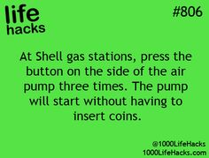 Gas station air pump hack