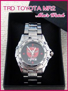 新バージョン トヨタ MR2 AW11 SW20 MR2 TRD ロゴ 腕時計 新品_MR2 TRD ロゴ 腕時計&外箱