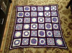 Krazy Kabbage: Granny Circle Squares Blanket