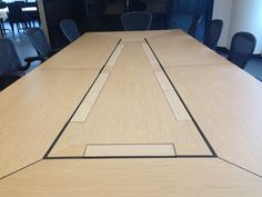 CMS installed the executive in-desk box in this boardroom environment.